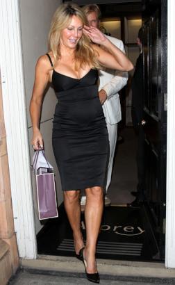 heather locklear black dress
